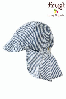 Frugi Organic Blue/White Seersucker Legionnaire's Hat