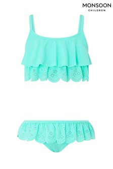 Monsoon Turquoise Sallie Scallop Bikini