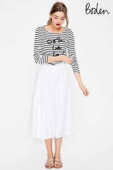 Boden White Laurie Skirt