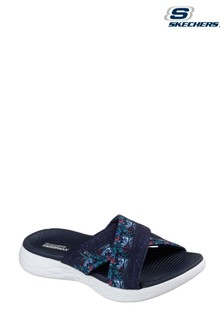 ca9d6996503c Skechers® Blue On The Go 600 Monarch Navy Cross Sandals