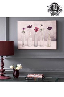 Floral Row Canvas by Art For The Home