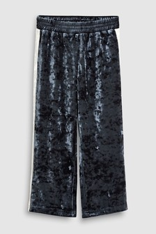 Velvet Side Stripe Trousers (3-16yrs)