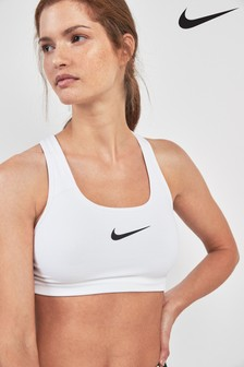 Nike Swoosh White Sports Bra