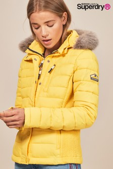 Superdry Fuji Slim Double Fix Faux Fur Jacket