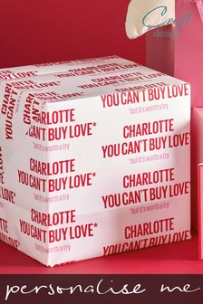 2 Pack You Can't Buy Love Valentines Personalised Wrap