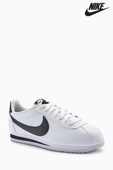 Nike White/Black Leather Cortez