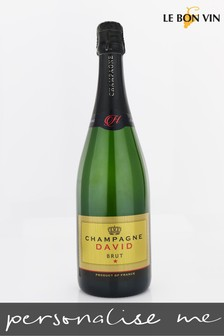 Personalised Gold Label Champagne Gift by Le Bon Vin