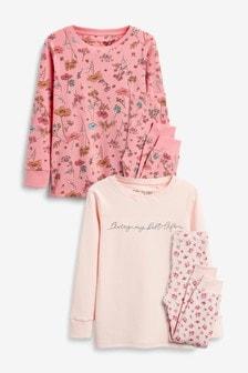 2 Pack Floral Snuggle Pyjamas (3-16yrs)