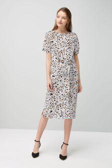 Printed Column Dress