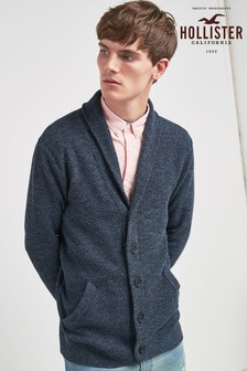 Hollister Navy Knitted Cardigan