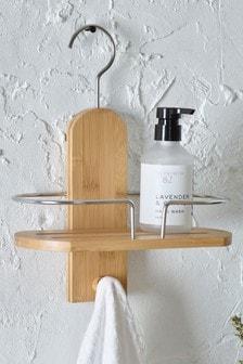 Bambusová kúpeľňová polica