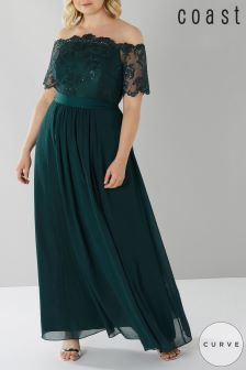 Coast Curve Green Maddie Maxi Dress