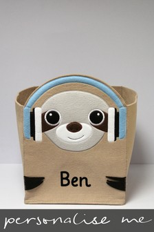 Personalised Sloth Storage Box