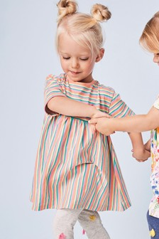 Short Sleeve Stripe Dress (3mths-7yrs)