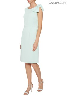 Gina Bacconi Green Gratia Crepe Dress
