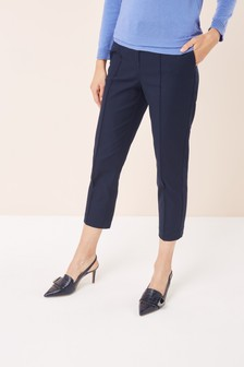 Cotton Blend Capri Trousers