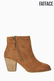 FatFace Brown Oake Weave Detail Ankle Boot