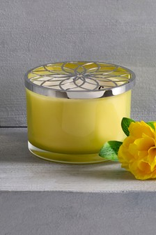Lemon & Bergamot Three Wick Candle
