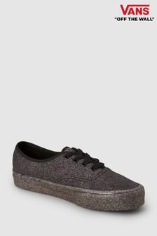 Vans Black Glitter Authentic