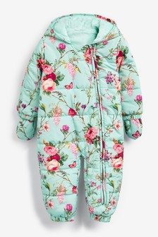 Floral Padded Pramsuit (0mths-2yrs)