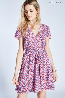 Jack Wills Lilac Perwent Tea Dress