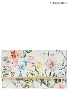 Accessorize White Bluebell Printed Jewellery Roll