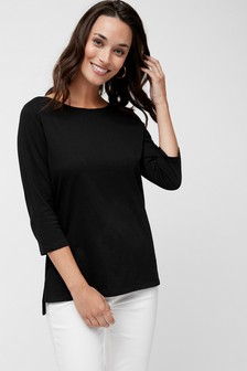 af3cec5e2af Black Tops For Women | Long & Sleeveless Black Tops | Next UK