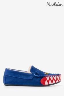 נעלי בית מזמש של Boden דגם Dragon בצבע כחול