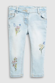 Floral Print Skinny Jeans (3mths-7yrs)
