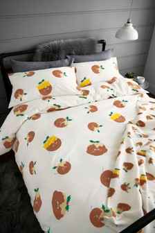 Christmas Pudding Duvet Cover And Pillowcase Set