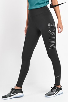 Nike Shine Black Running Leggings