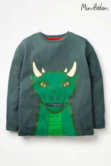 חולצת טי עם הדפס Creature של Boden, דגם Novelty בצבע ירוק