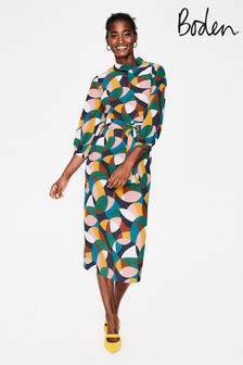 Boden Blue Lottie Midi Dress