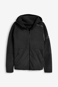 adidas Black Z.N.E Winter Warm Zip Through Hoodie