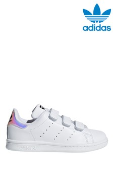 adidas Originals White Iridescent Stan Smith Junior