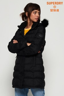 Superdry Black Mountain Fuji Coat