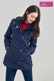 Joules Blue Coast Mid Print Waterproof Jacket