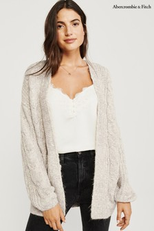 Abercrombie & Fitch Cream Boyfriend Cardigan