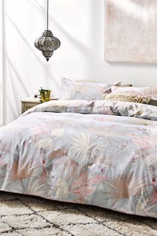Global Glam Tropical Palm Duvet Cover and Pillowcase Set