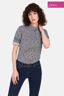 Joules Navy Ditsy Lucie Print Shirt