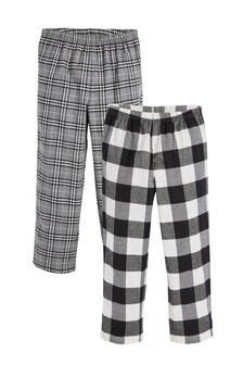 2 Pack Check Long Leg Pyjama Bottoms (3-16yrs)