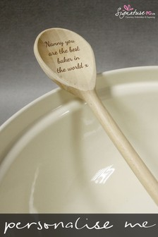 Personalised Wooden Spoon Utensils by Signature PG