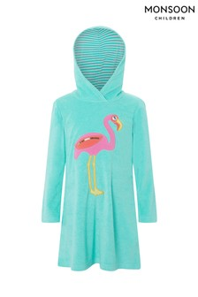 480a857f19 Monsoon Turquoise Finessa Flamingo Towelling Robe