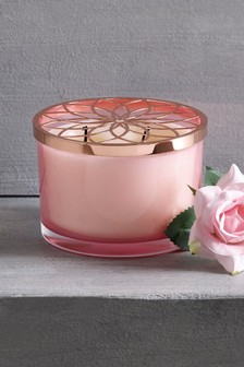 Rosewater and Raspberry Three Wick Candle