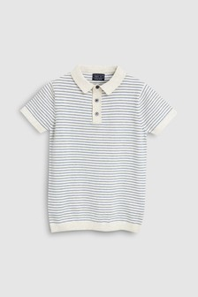 Stripe Knitted Polo (3-16yrs)