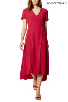 Karen Millen Pink Modern Wrap Dress