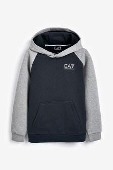 EA7 Navy Grey Hoody