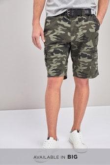 Pantalones cortos cargo con cinturón