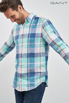 GANT Madras Linen Pastel Regular Shirt