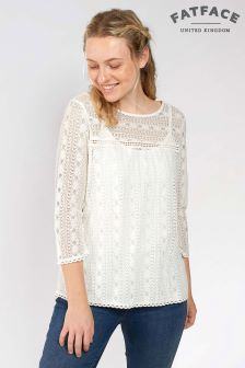 Fatface Natural Verity Lace 2 In 1 Top